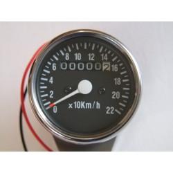 Tableau de bord - Compteur Kilométrique mécanique  - Café Racer - 15 à 18 Pouce - NOIR