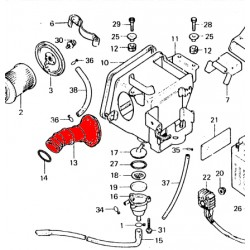 Filtre a air - manchon de raccordement au carburateur