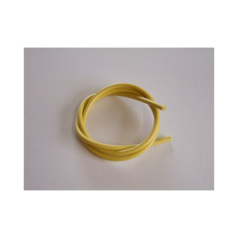 Bougie - cable SILICONE ø 7mm -  Jaune - 1metre - fil de bougie