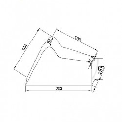 Moto : Housse de Protection - Bache Interieure - Taille M - 203x89x144cm