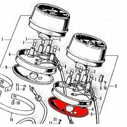 Compteur - Coupelle de fixation sous - (x1)