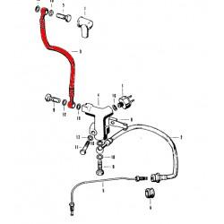 Frein - Durite Avant CB ... Four - cote maitre cylindre