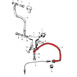 Frein - Durite Avant - CB550/750 Four - Coté etrier