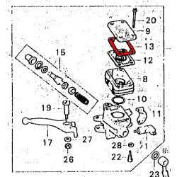 Frein - Maitre cylindre - plaque de diaphragme