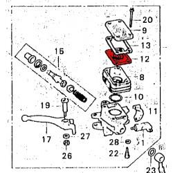 Frein - Maitre cylindre - Diaphragme de bocal Avant