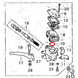 Frein - Maitre cylindre - Joint de bocal Avant - 39.7x3.5mm