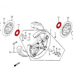 Roue Avant - Joint papier pour disque de frein - (x1)