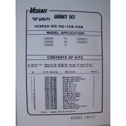 Moteur - Pochette joint - complete Vesrah - CB400 Four