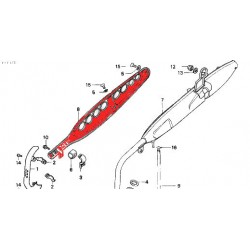 Echappement - plaque de protection - ST70 - DAX