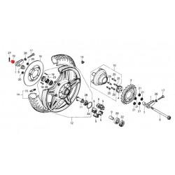 Roue arriere - Ecrou d'axe de roue - M18 - produit non livrable