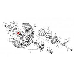 Roue arriere - Ecrou de roue - Cache poussière de roulement arriere