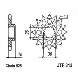 Transmission - Pignon sortie boite - JTF 313 - 525/16 dents