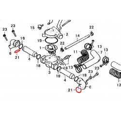 Pompe a eau - Joint torique 23x2.80 mm (x1)