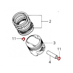 Moteur - Circlips - axe de piston - (x2)