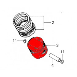 Moteur - Piston origine (+1.00) - CB360G