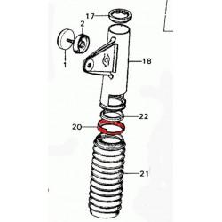 Fourche - Support de phare chrome - bague inferieure