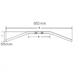 Guidon ø22mm - LSL - Street - ouverture 850mm - OR