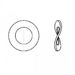 Rondelle elastique - M8 - Acier zingué - (x10)