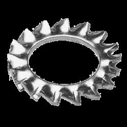 Rondelle frein - M8 - Acier zingué blanc - (x10)