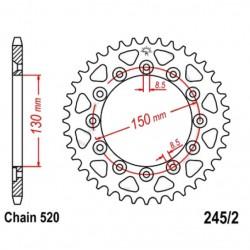 Transmission - Couronne JTR245/2 - 520/53 dents