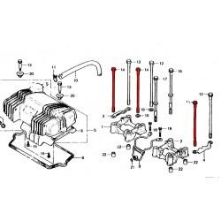 Moteur - Axe de serrage Moteur, culasse, bloc cylindre - CB400N