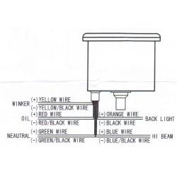 """Tableau de bord - Compteur Mécanique Km/h - 15-18"""" - Blanc - a voyant"""