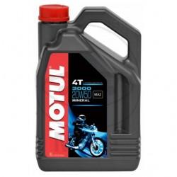 Moteur - Huile - MOTUL 3000 -  Minerale 20W50 - 4 Litre